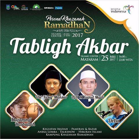 Photo of Tabligh Akbar Yusuf Mansur Buka Rangkaian Pesona Khazanah Ramadhan di Lombok