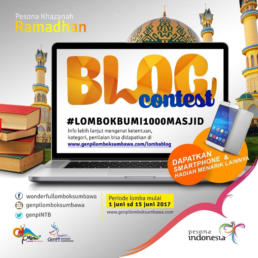 Lomba Blog Pesona Khazanah Ramadhan di Pulau Seribu Masjid