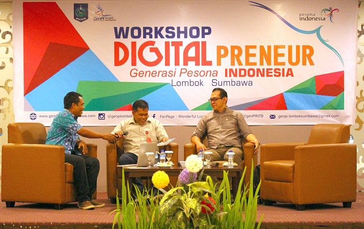 Photo of Dukung Industri Pariwisata, GenPI Lombok Sumbawa Gelar Digital Preneur Workshop