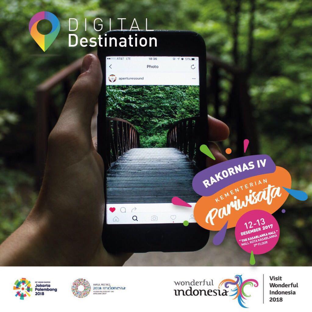 Photo of Digital Destination,  Salah Satu Andalan Pariwista Indonesia Di Tahun 2018