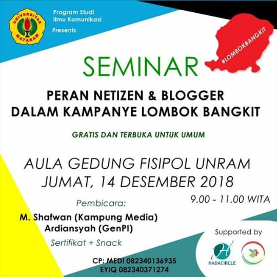 Photo of GenPI Lombok Sumbawa Berbagi Pengalaman Kampanye Lombok Bangkit Melalui Medsos
