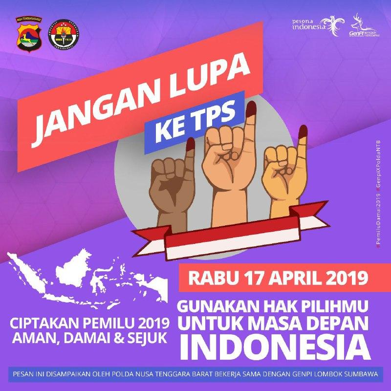 Photo of Genpi Lombok Sumbawa bersama Humas Polda NTB Ajak Millenials Nyoblos pada Pemilu 17 April 2019
