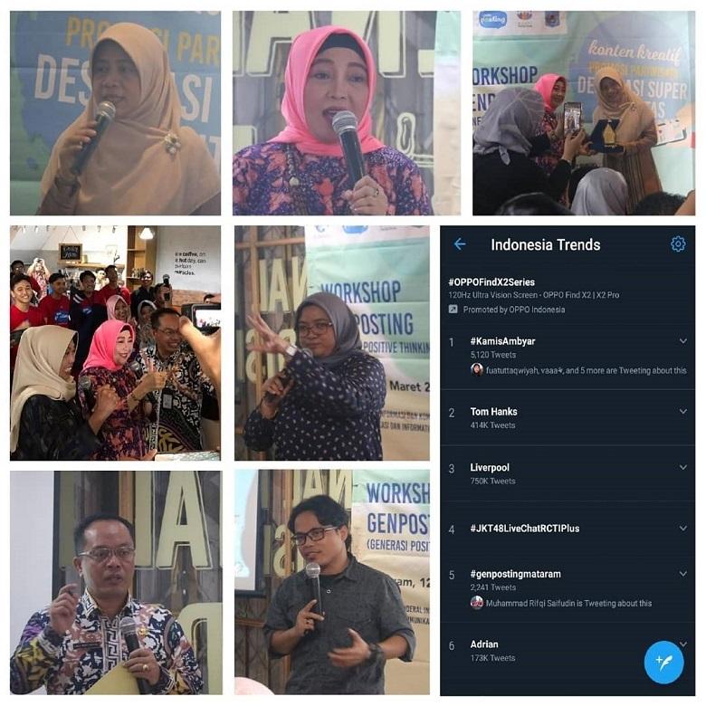 Hestek Genposting Mataram, trending topic Twitter ke5 se-Indonesia