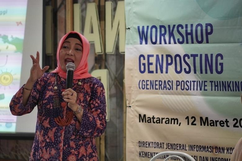 Direktur Perekonomian Dan Maritim Kominfo RI Sharing di Genposting Mataram