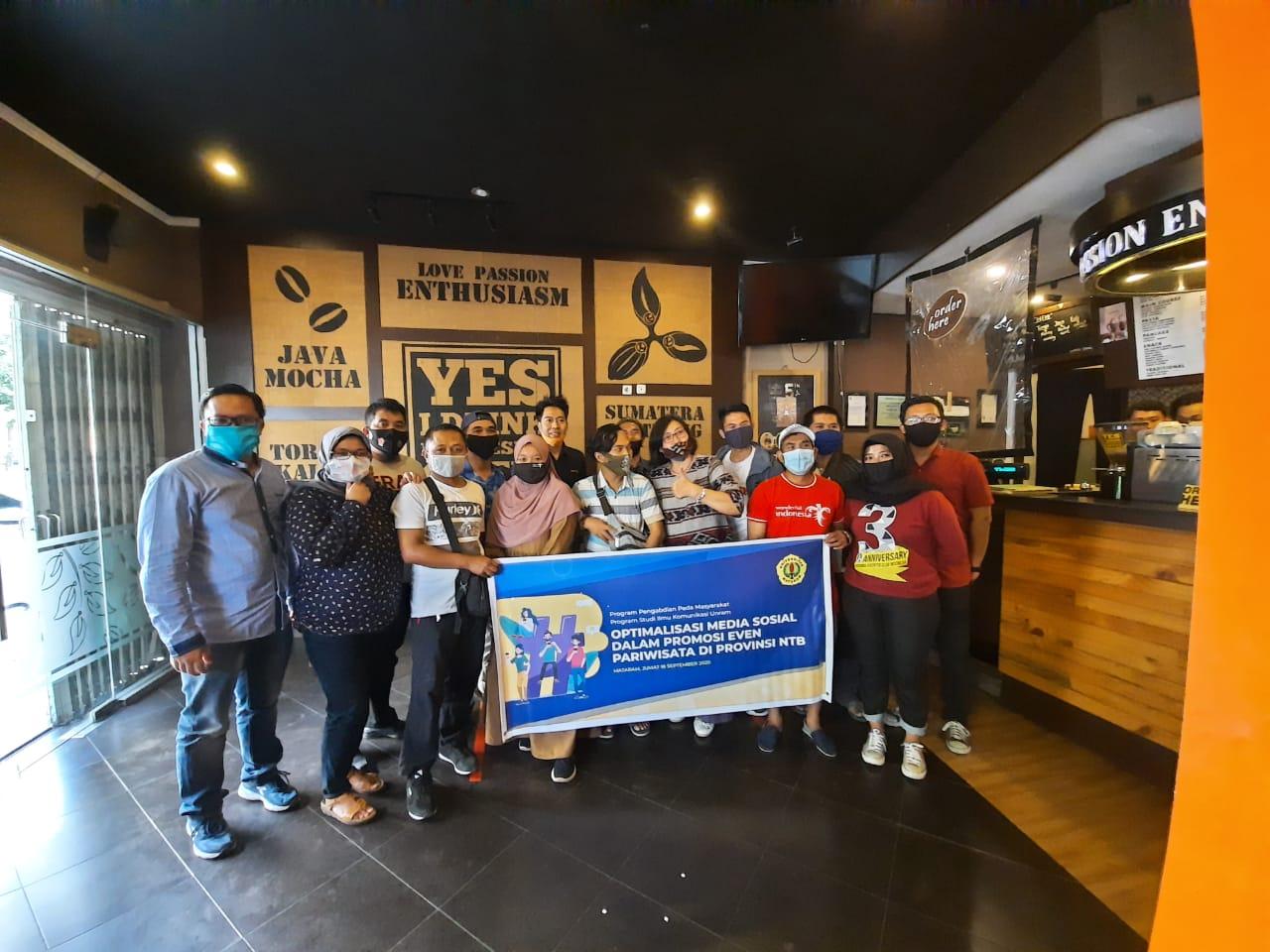 Photo of Prodi Ilmu Komunikasi Unram Gelar Diskusi Pariwisata Bersama Netizen Lombok