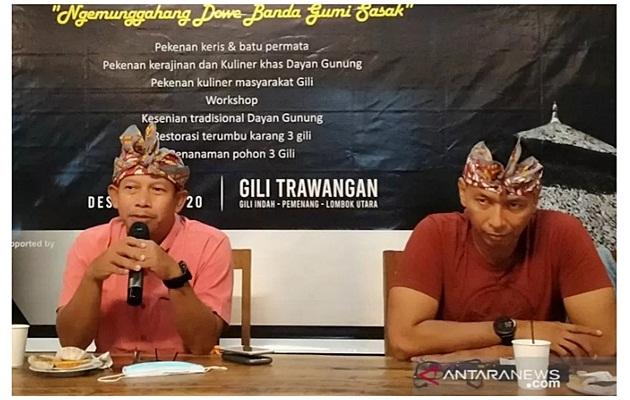 Kadispar KLU dan Ketua GHA menjelaskan rencana event Pekenan Dayan Gunung