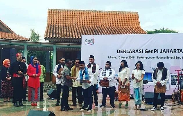 Salah satu momen deklarasi GenPI Jakarta