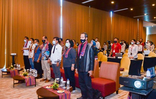 Rangkaian acara pembukaan di TABEX 2020 Poltekpar Lombok