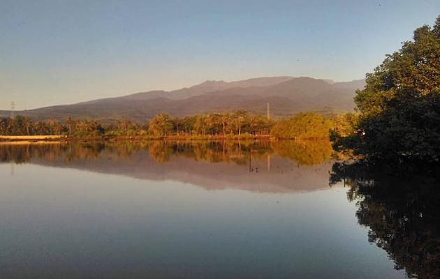 Danau payau di Makam Keramat Desa Wisata Sugian, lokasi Family Camp GenPI
