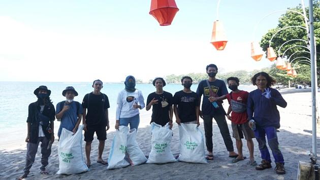 Sebagian sampah yang terkumpul di WCD 2021 Lombok